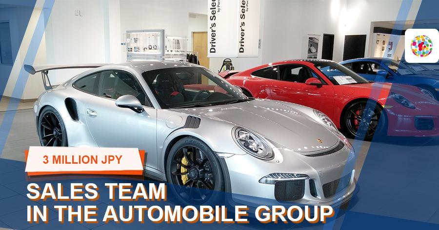Sales team in the automobile group