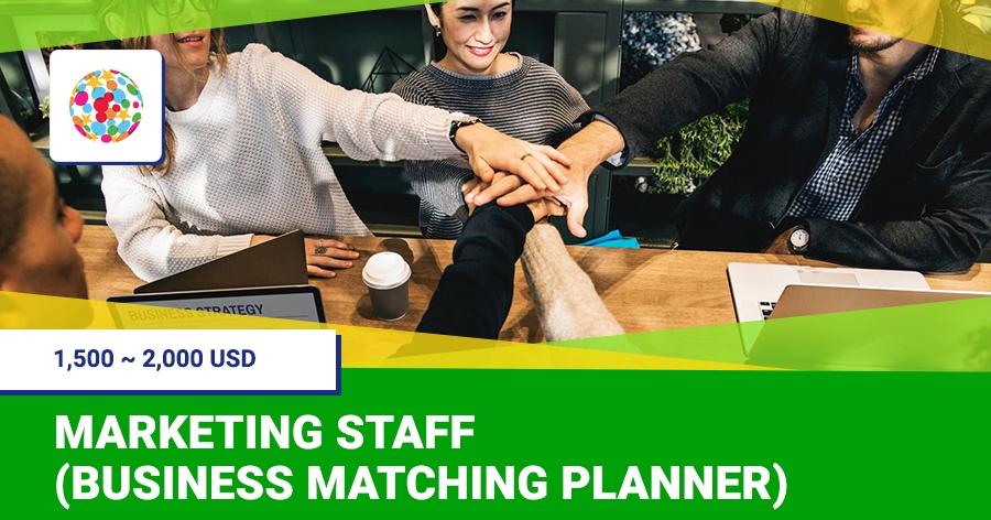 Marketing staff (business matching planner)