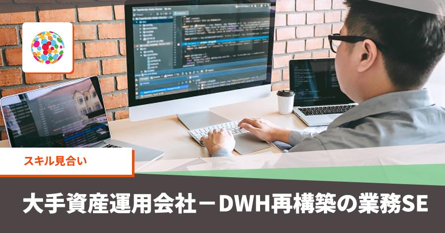 大手資産運用会社-DWH再構築の業務SE